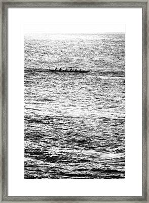 Canoe Glitter Framed Print by Sean Davey