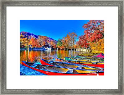 Canoe In Waiting Framed Print