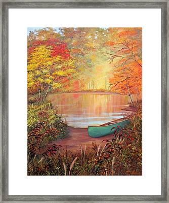 Canoe Landing  Framed Print by John Samsen