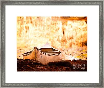 Canoe On Caddo Lake Framed Print by Sonja Quintero