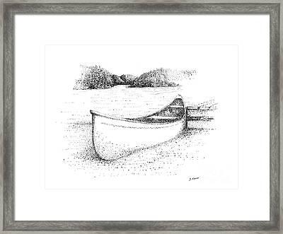 Canoe On The Beach Framed Print by Steve Knapp