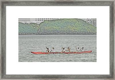 Canoe Practice Framed Print by Scott Cameron