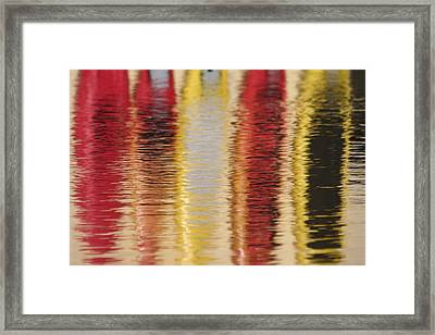 Canoe Reflections Framed Print by Carolyn Reinhart