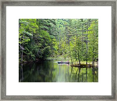 Canoe Ride Framed Print