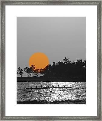 Canoe Ride In The Sunset Framed Print by Athala Carole Bruckner