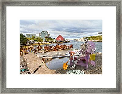 Canoe Rides For One Dollar Framed Print