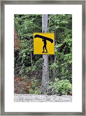 Canoe Sign. Framed Print by Fernando Barozza