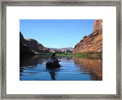 Canoe Trip Framed Print