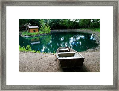 Canoeing Framed Print by Dan Sproul
