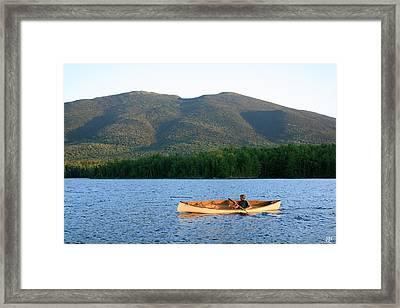Canoeing Flagstaff Lake Framed Print