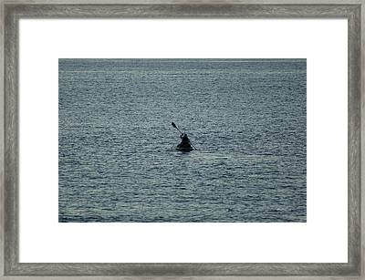 Framed Print featuring the photograph Canoeing In The Florida Riviera by Rafael Salazar