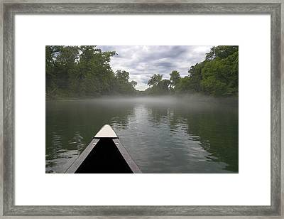 Canoeing The Ozarks Framed Print by Adam Romanowicz