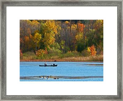 Canoer 2 Framed Print by Aimee L Maher Photography and Art Visit ALMGallerydotcom