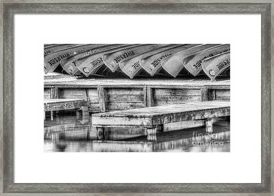 Canoes At Sleeping Bear Dunes Framed Print by Twenty Two North Photography