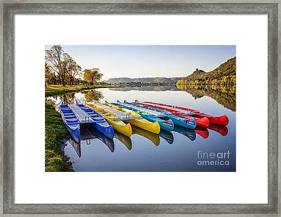 Canoes Color 2x3 Framed Print