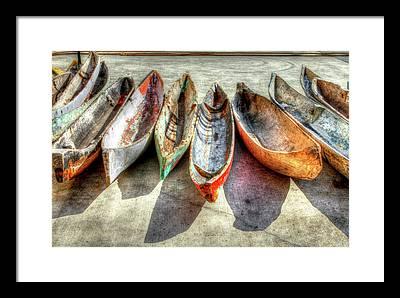Sailboats Docked Framed Prints
