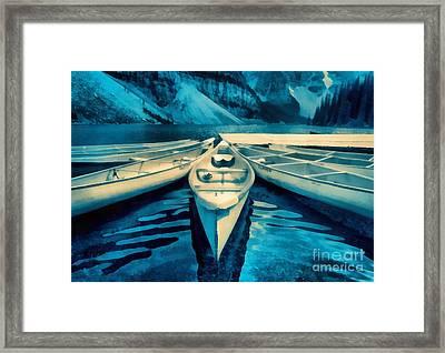 Canoes Framed Print by Edward Fielding