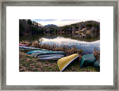 Canoes In Nc Framed Print