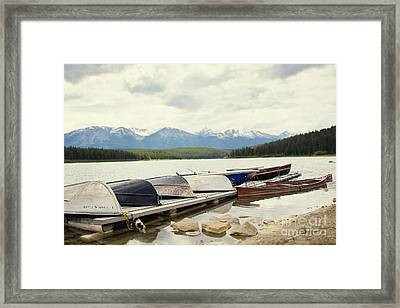 Canoes Framed Print by Ivy Ho
