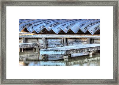 Canoes Ready For Dispatch Framed Print by Twenty Two North Photography