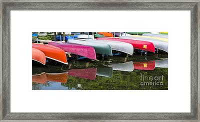 canoes - Lake Wingra - Madison  Framed Print