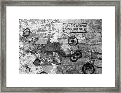 Canon Ball Marks Framed Print by Jagdish Agarwal