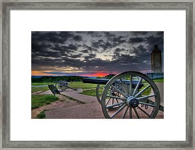 Canon Over Gettysburg Framed Print