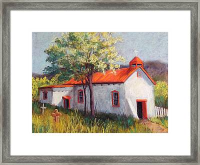 Canoncito Church Framed Print