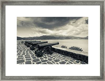 Canons At Fort Shirley, Cabrits Framed Print