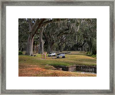 Canons Of Fort Frederica Georgia Framed Print