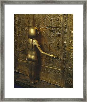 Canopic Chest Of Tutankhamun. 1333 Bc Framed Print by Everett