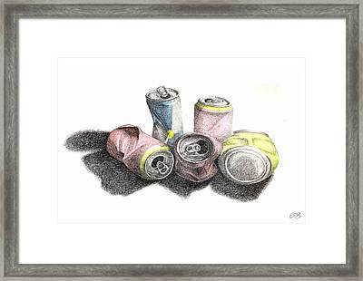 Cans Sketch Framed Print by Conor OBrien