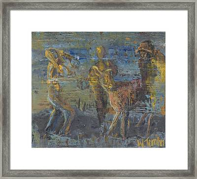 'can't Force A Mule' Framed Print