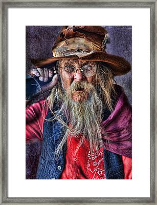 Can't Hear Ya Framed Print