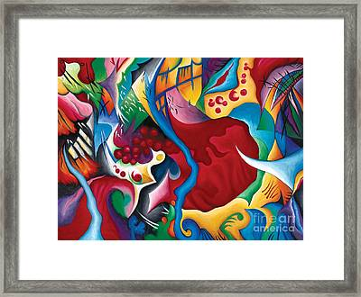 Can't Stop The Beat Of A Wild Heart Framed Print by Tiffany Davis-Rustam