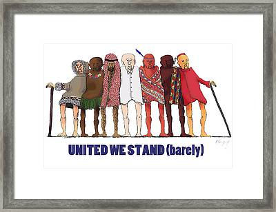 Can't We Just Get Along? Framed Print