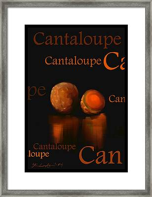 Cantaloupe - Fruit And Veggie Series - #4 Framed Print by Steven Lebron Langston