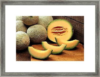Cantaloupe Slices Framed Print by Cole Black