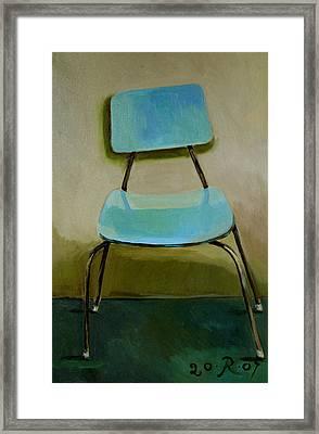 Canteen Chair Framed Print by Raimonda Jatkeviciute-Kasparaviciene
