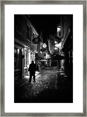 Canterbury At Night Framed Print by Ian Hufton