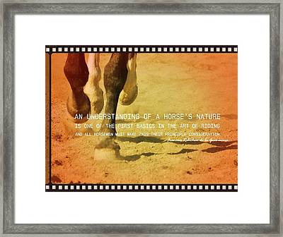 Cantering Along Quote Framed Print by JAMART Photography