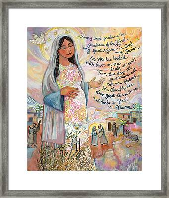 Canticle Of Mary Framed Print by Jen Norton