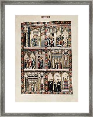 Cantigas De Santa Maria Virgin Mary Framed Print by Everett