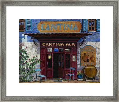 cantina Ala Framed Print by Guido Borelli