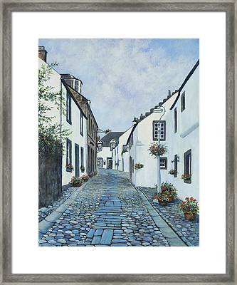 Cantle Of The Causey At Culross Framed Print by Stella Turner