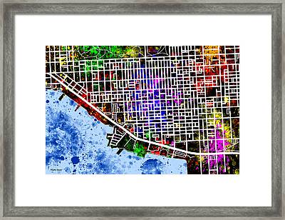 Canton Map Framed Print by Stephen Younts