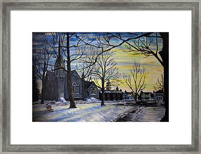 Canton Park Under January Sun Framed Print by Denny Morreale