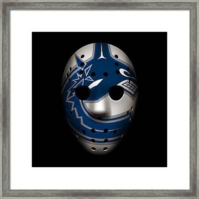 Canucks Goalie Mask Framed Print by Joe Hamilton