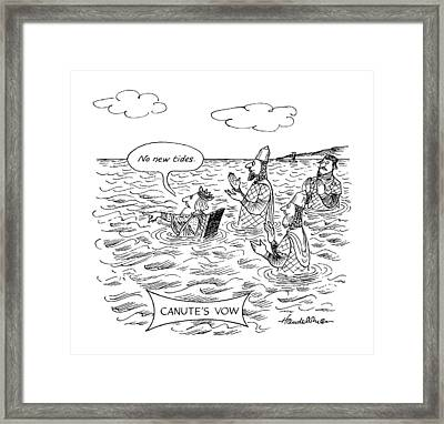 Canute's Vow Framed Print