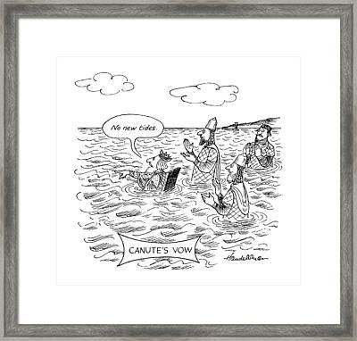 Canute's Vow Framed Print by J.B. Handelsma